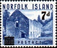 Norfolk Island 1956 Old Store Surcharge Fine Mint