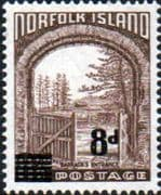 Norfolk Island 1958 Barracks Overprint SG 22 Fine Mint
