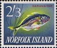 Norfolk Island 1962 Fish White Trevally SG 48 Fine Mint