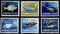 Norfolk Island 1962 Fishes Set Fine Mint