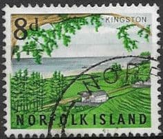 Norfolk Island 1953 Bloody Bridge Fine Used  SG 18 Scott Postage Stamps