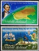 Norfolk Island 1970 Captain Cook Set Fine Mint