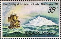 Norfolk Island 1973 Cook Crossing of the Antarctic Circle SG 129 Fine Mint