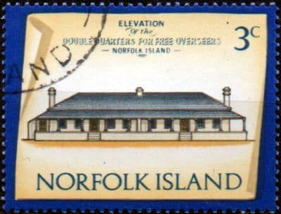 Stamps Norfolk Island 1973 Historic Buildings Fine Mint SG 135 Scott 158 Double Quarters for Free Overseers