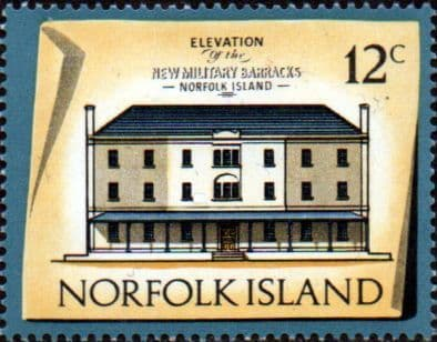 Stamps Norfolk Island 1973 Historic Buildings Fine Mint SG 140 Scott 163 Officers' Quarters, New Military Barracks