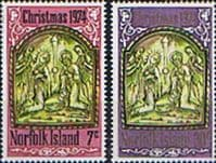 Norfolk Island 1974 Christmas Set Fine Mint