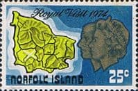 Norfolk Island 1974 Royal Visit SG 150 Fine Mint