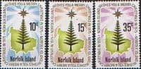 Norfolk Island 1975 Christmas Set Fine Mint