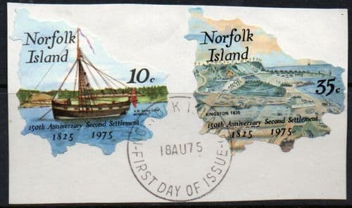 Norfolk Island 1975 Second Settlement Set SAL First day of Issue Fine Used Tied