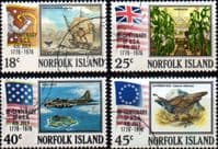 Norfolk Island 1976 American Revolution Set Fine Used