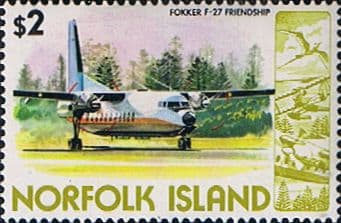 Air Mail Stamps Norfolk Island 1980 Airplanes Fine Mint SG 250 Scott 269