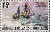 Norfolk Island 1982 Shipwrecks SG 292 Fine Mint
