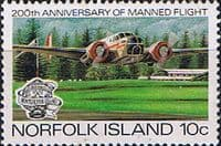 Norfolk Island 1983 Bicentenary of Manned Flight SG 304 Fine Mint