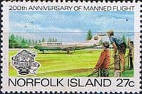 Norfolk Island 1983 Bicentenary of Manned Flight SG 305 Fine Mint