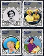 Norfolk Island 1985 Queen Mother Life and Times Set Fine Mint