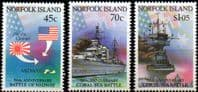 Norfolk Island 1992 Battle of the Coral Sea Set Fine Mint