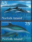 Norfolk Island 1997 Dolphins Set Fine Mint