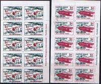 Norfolk Island 1999 Aircraft Booklet Pane Set Fine Mint