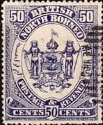 North Borneo 1888 SG 46 Postage and Revenue Fine Used