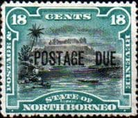 North Borneo 1895 Post Due SG D10 Good Mint