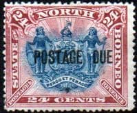 North Borneo 1895 Post Due SG D11b Good Mint