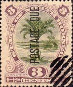 North Borneo 1895 Post Due SG D3 Fine Used