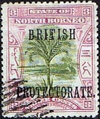 Stamp Stamps North Borneo 1901 British Protectorate Overprint Good Used SG 129 Scott 106