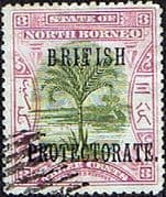 North Borneo 1901 SG 129b British Protectorate Overprint Fine Used