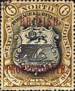 North Borneo 1901 SG 132b British Protectorate Overprint Fine Used