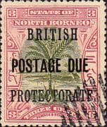 North Borneo 1902 Post Due SG D39 British Protectorate Fine Used