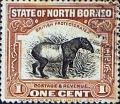 Stamps North Borneo 1909 Black Centre Design Fine Used SG 159a Scott 136b