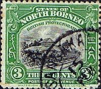 North Borneo 1925 State Designs SG 279 Fine Used