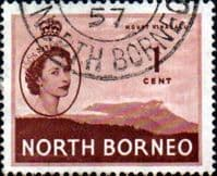 North Borneo 1954 SG 372 Queen Elizabeth II Fine Used