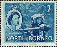 North Borneo 1954 SG 373 Queen Elizabeth II Fine Mint