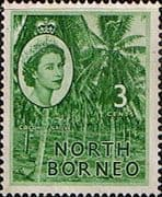 North Borneo 1954 SG 374 Queen Elizabeth II Fine Mint