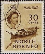 North Borneo 1954 SG 381 Queen Elizabeth II Fine Used