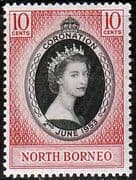 North Borneo Queen Elizabeth II 1953 Coronation Fine Mint