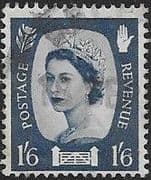 Northern Ireland 1958 Queen Elizabeth SG NI 6 Fine Used