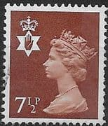 Northern Ireland 1971 Queen Elizabeth Machin SG NI 23 Fine Used