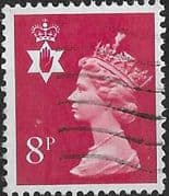 Northern Ireland 1971 Queen Elizabeth Machin SG NI 24 Fine Used