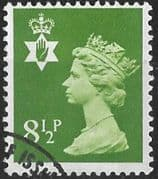 Northern Ireland 1971 Queen Elizabeth Machin SG NI 25 Fine Used
