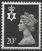 Northern Ireland 1971 Queen Elizabeth Machin SG NI 51 Fine Used