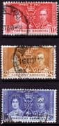 Northern Rhodesia 1937 King George VI Coronation Set Fine Used