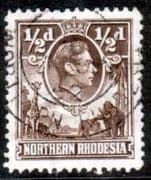 Northern Rhodesia 1938 Animals SG 26 Fine Used