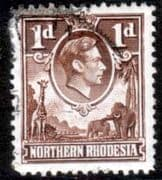 Northern Rhodesia 1938 Animals SG 27 Fine Used