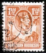 Northern Rhodesia 1938 Animals SG 30 Fine Used