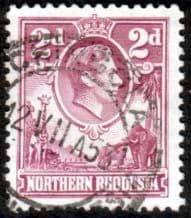 Stamps of Northern Rhodesia 1938 Animals SG 33 Fine Used Scott 33