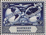 Northern Rhodesia 1949 Universal Postal Union SG 51 Fine Mint