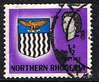 Northern Rhodesia 1963 Coat of Arms SG 75 Fine Used