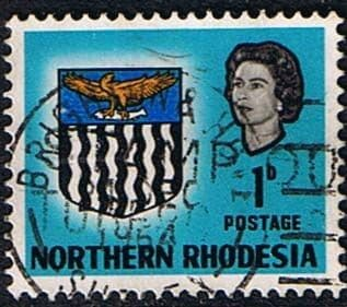 Northern Rhodesia 1963 Coat of Arms SG 76 Fine Used